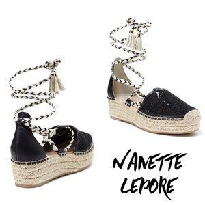 Nanette Lepore espadrille platform ballerina flats
